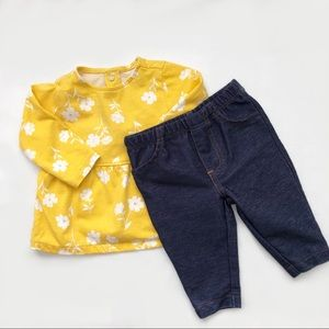 🔥NEW LISTING BABY BLOUSE AND JEGGINGS